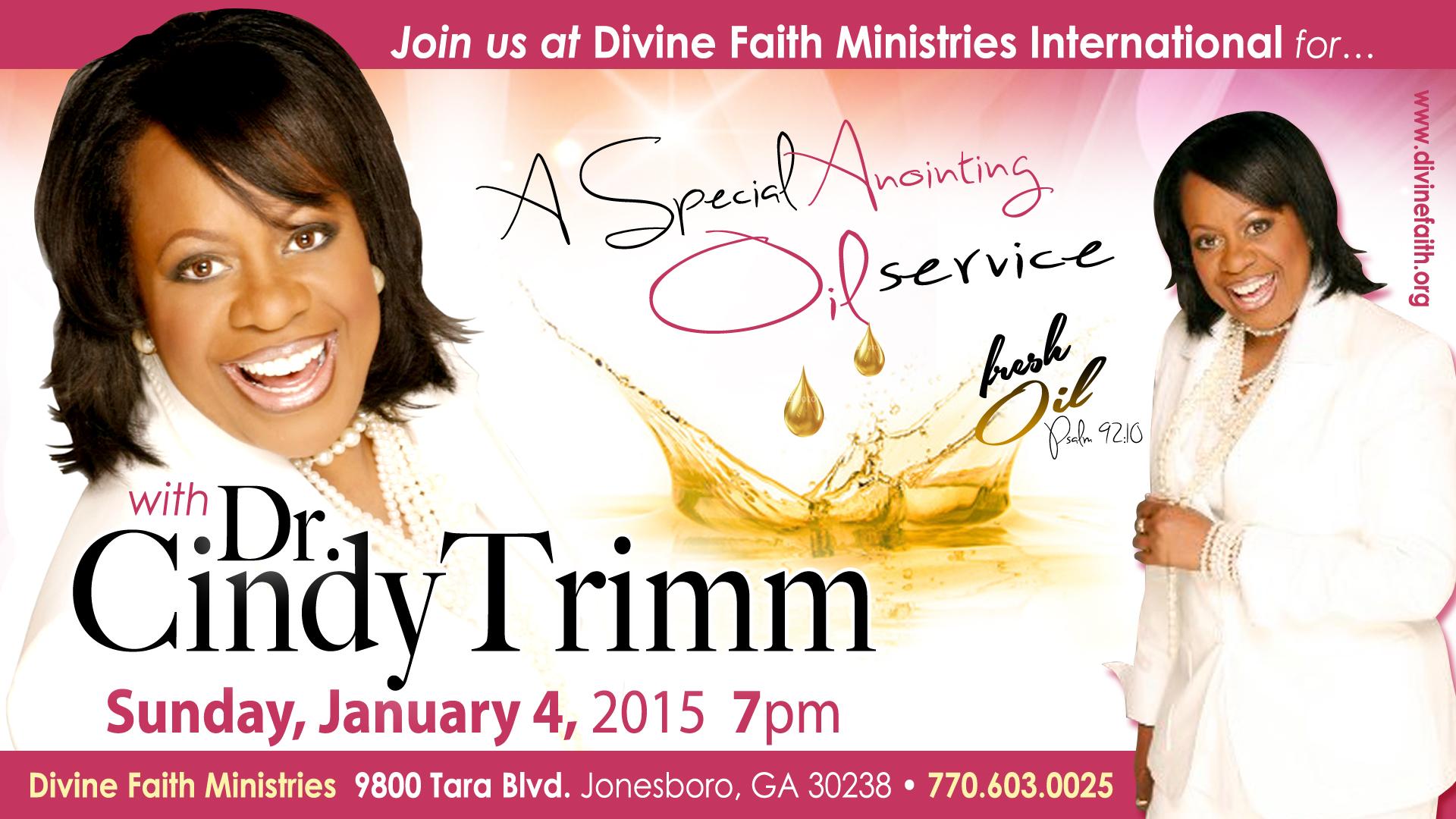 Dr cindy trimm 7pm divine faith ministries